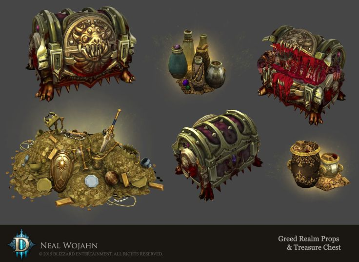 ArtStation - Diablo 3 Greed Realm Props, Neal Wojahn