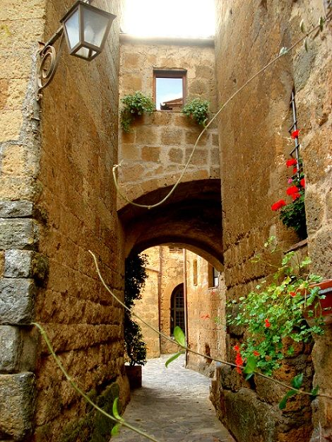 The lanes of Civita di Bagnoregio - a sheer delight to explore.
