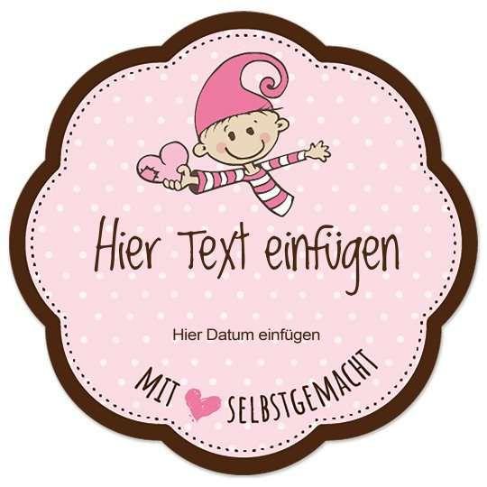 Kostenlose Vorlage Etikett Blumenform Selbstgemacht Baby Etiketten Gestalten Marmeladenetiketten Marmeladen Etikett