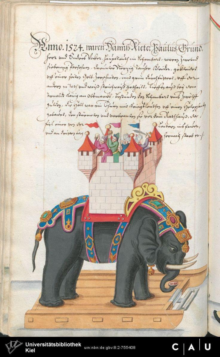 Nürnberger Schembart-Buch Erscheinungsjahr: 16XX  Cod. ms. KB 395  Folio 177