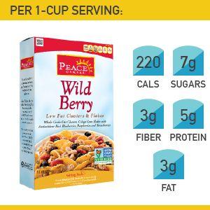 18. Peace Cereal Wild Berry #cereal #breakfast http://greatist.com/health/best-healthy-cereal-brands