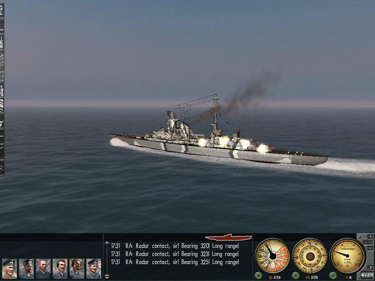 Battleship shooting in submarine simulator.