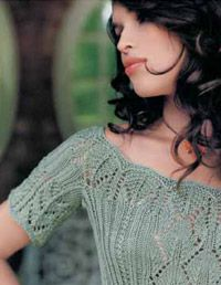 Beautiful free pattern! Top down Casablanca Corset from The Art of Knitted Lace.