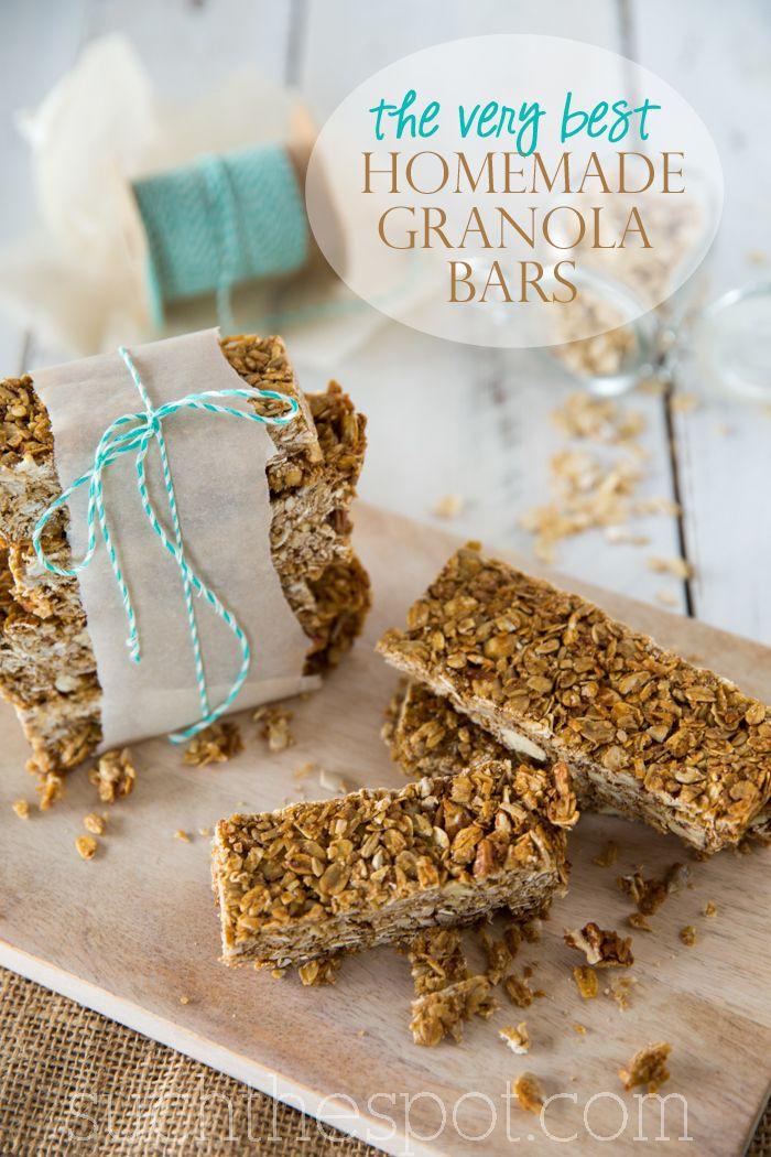The very best homemade granola bars recipe