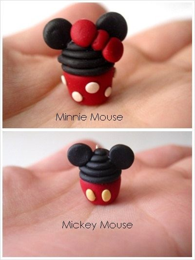 Disney Cupcake Pendent Necklace Minnie mouse by SimplyEncharming, $11.00