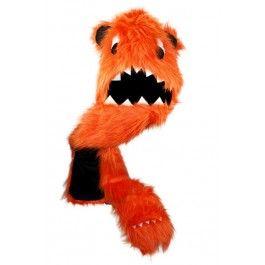 Monster Hood (Orange) Long Faux Fur $34.95