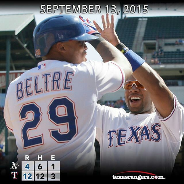 "By @rangers ""Twice as nice! Adrian Beltre hits 2 homers as the Rangers earn a series win. #Texas #Rangers #TexasRangers #MLB #Baseball #NeverEverQuit"