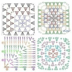 verschillende soorten granny squares