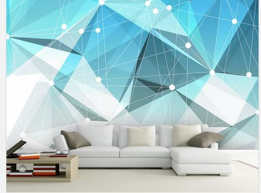Customize wallpaper non woven 3D geometric abstract image of the wall Wall 3d wallpaper 3d mural wallpaper free shipping4057!!-in Wallpapers from Home Improvement on Aliexpress.com | Alibaba Group