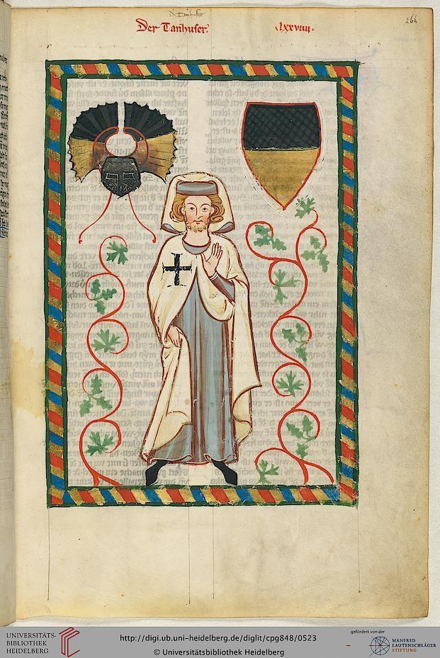 Cod. Pal. germ. 848: Große Heidelberger Liederhandschrift (Codex Manesse) (Zürich, ca. 1300 bis ca. 1340), Fol 264r