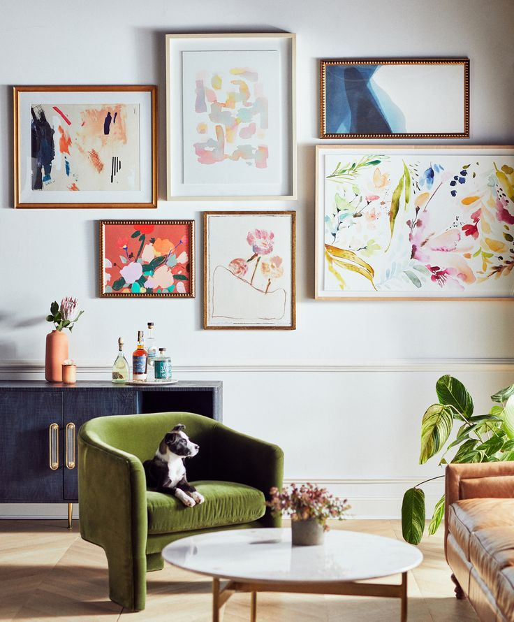 I Love The Floral Wall Art In This Living Room Wandkunst