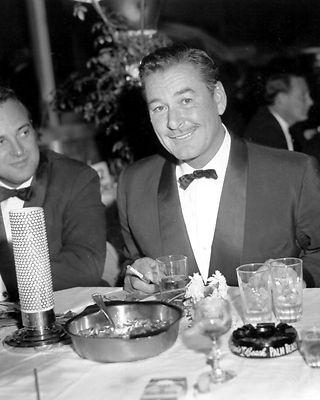 Errol Flynn at the Golden Globe Awards