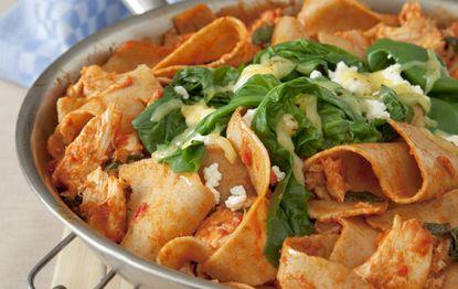 Frying Pan Chicken Lasagna