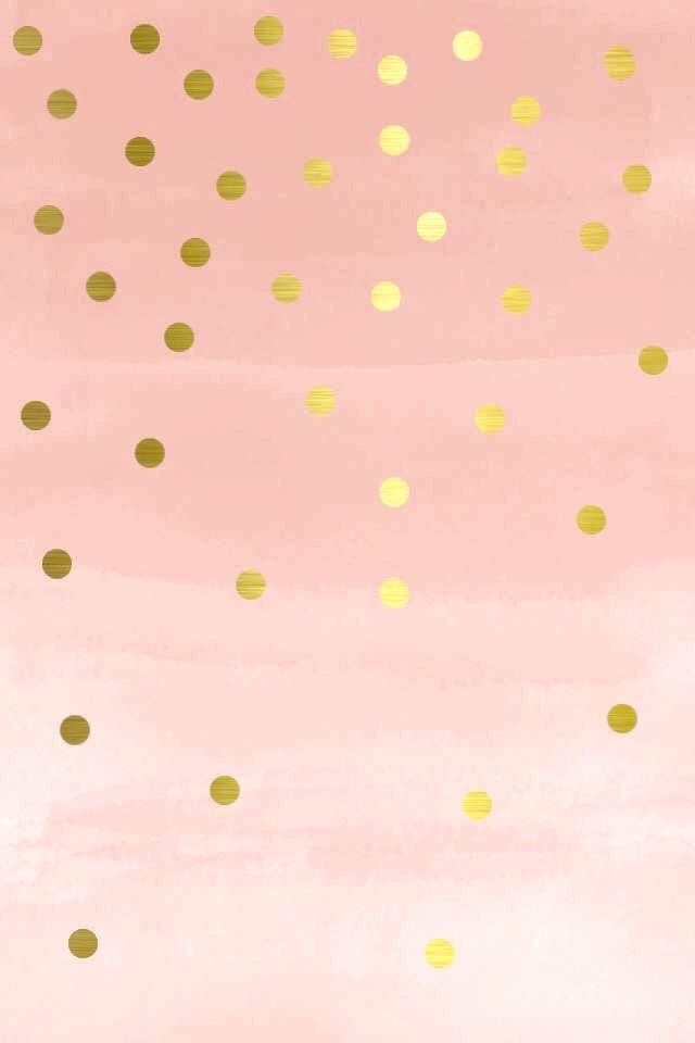 Pretty pink and gold wallpaper for iPhone