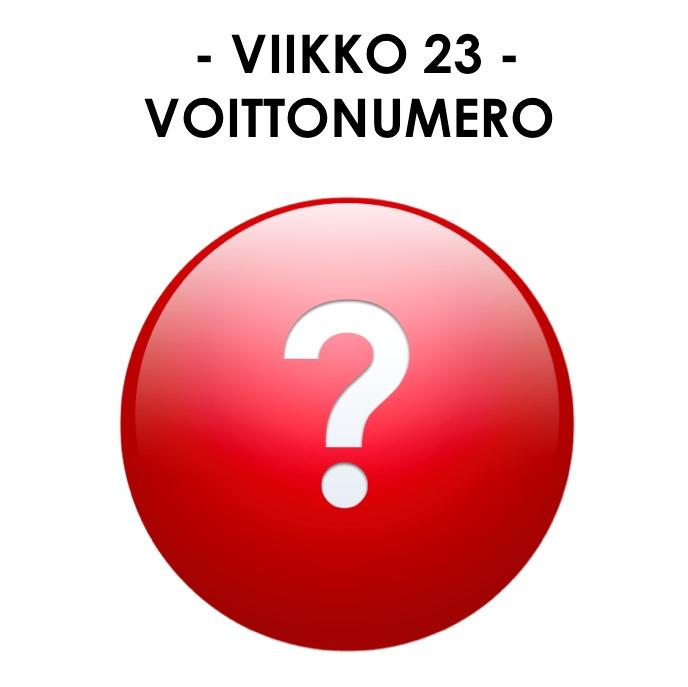 Siparilan kuvaloton voittonumero vk 23/2012.