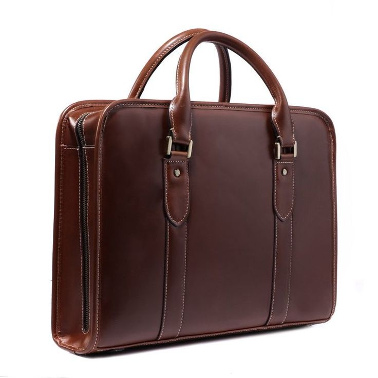"""Image of Christmas Gift Genuine Cowhide Leather Briefcase Tote Business Bag 15"""" Laptop Macbook Bag"""
