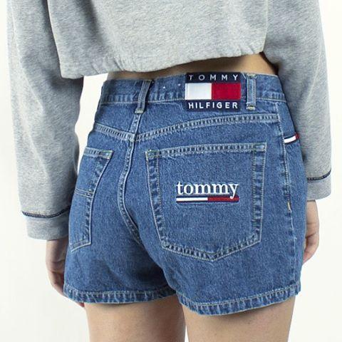 Vintage Tommy Hilfiger logo denim shorts