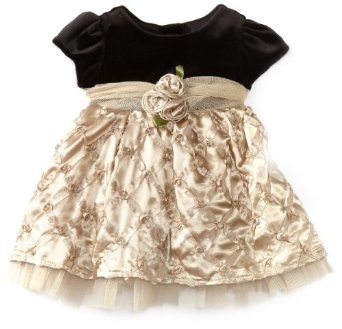 Youngland Baby-Girls Newborn Short Sleeve Bodice Dress with … $19.00