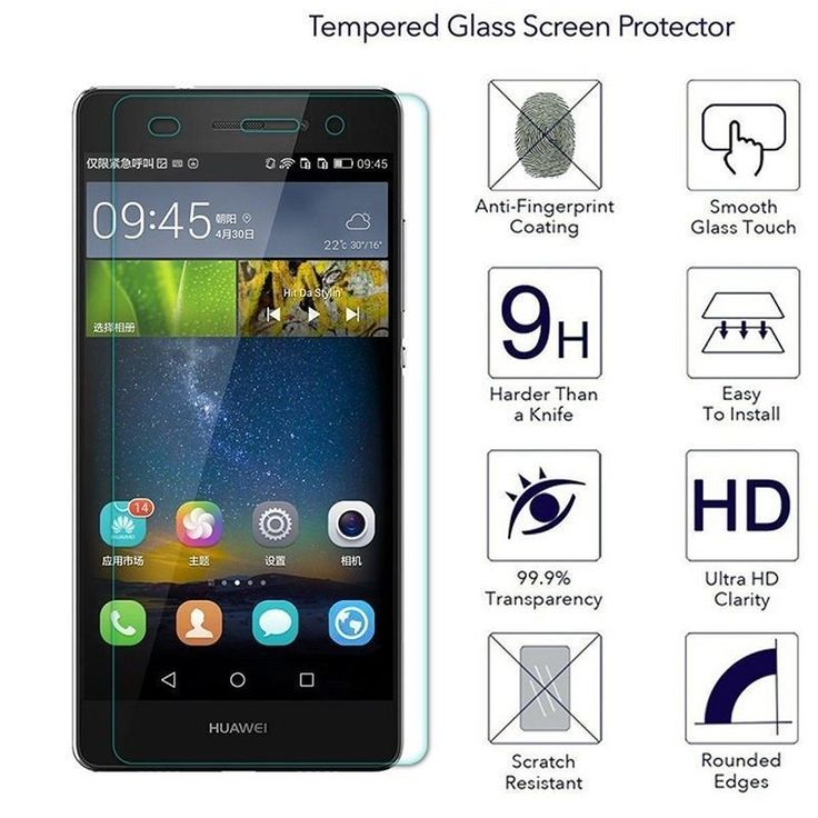 Premium Real Tempered Glass Film Screen Protector for Huawei #Huawei