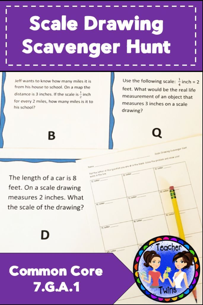 Scale Drawing Scavenger Hunt 7th Grade Math Activities