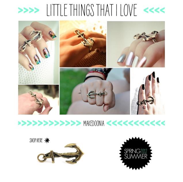 anillo doble ancla marinera