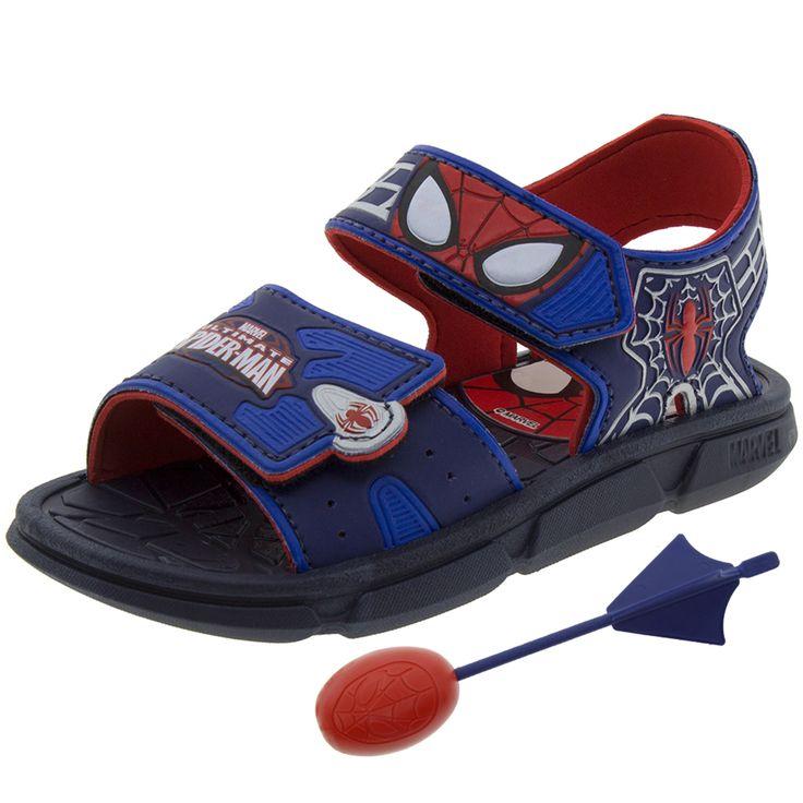 Papete Infantil Masculina Homem Aranha Azul/Vermelho Grendene Kids   Clovis - 21320 - cloviscalcados