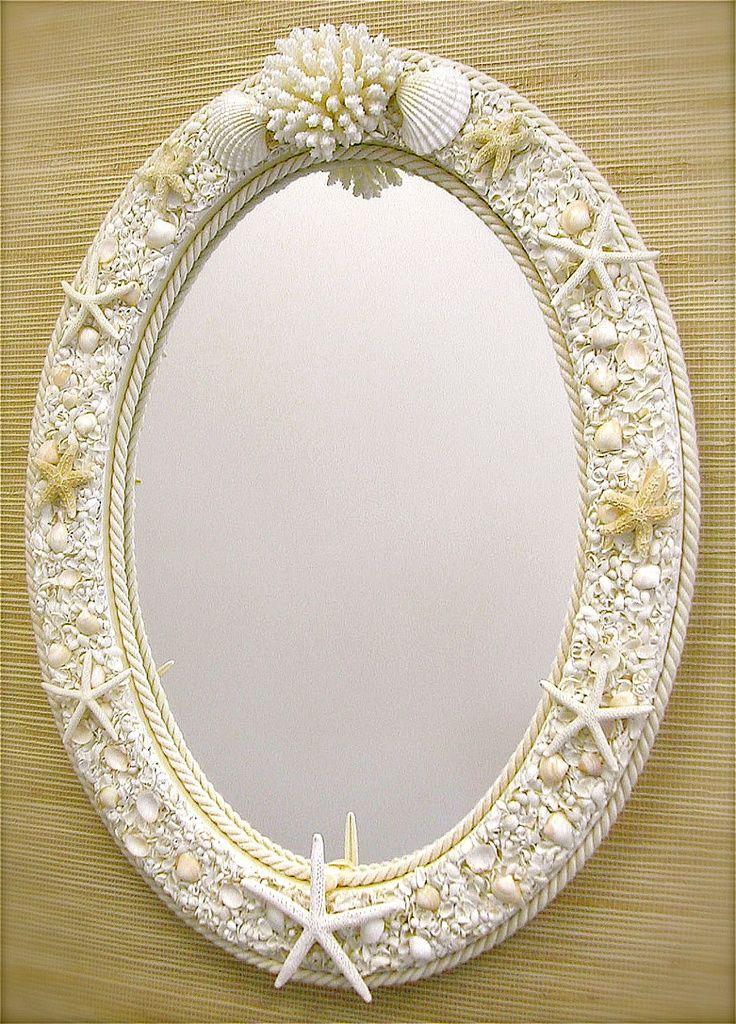 Beach Decor Seashell Mirror  | followpics.co