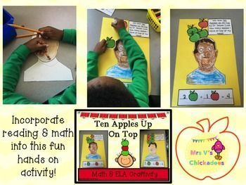 Ten Apples Up On Top: ELA & Math Craft if a great fall activity for kids from pre-k, kindergarten and first grade. Engaging and educational!