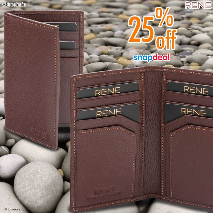 Redefine your class! Get the best genuine leather card holder from us with a discount of 25%. You can keep your valuable cards with an organized fashion. #CardHolder #GenuineLeather #Rene #ReneIndia