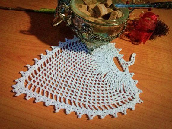 Leaf Shaped Handmade Crochet Doily for Teacup by LoriYarns on Etsy, $12.00