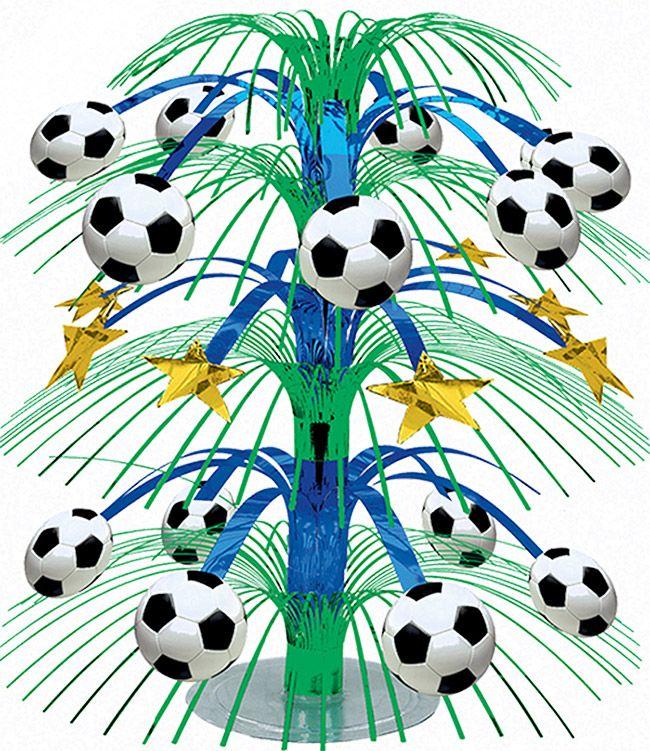 Centrotavola per gli appassionati di calcio su VegaooParty, negozio di articoli per feste. Scopri il maggior catalogo di addobbi e decorazioni per feste del web,  sempre al miglior prezzo!