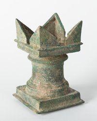 EGYPT. Ptolemaic era, circa 280-150 BCE. Bronze inscribed incense altar to Sarapis and Isis