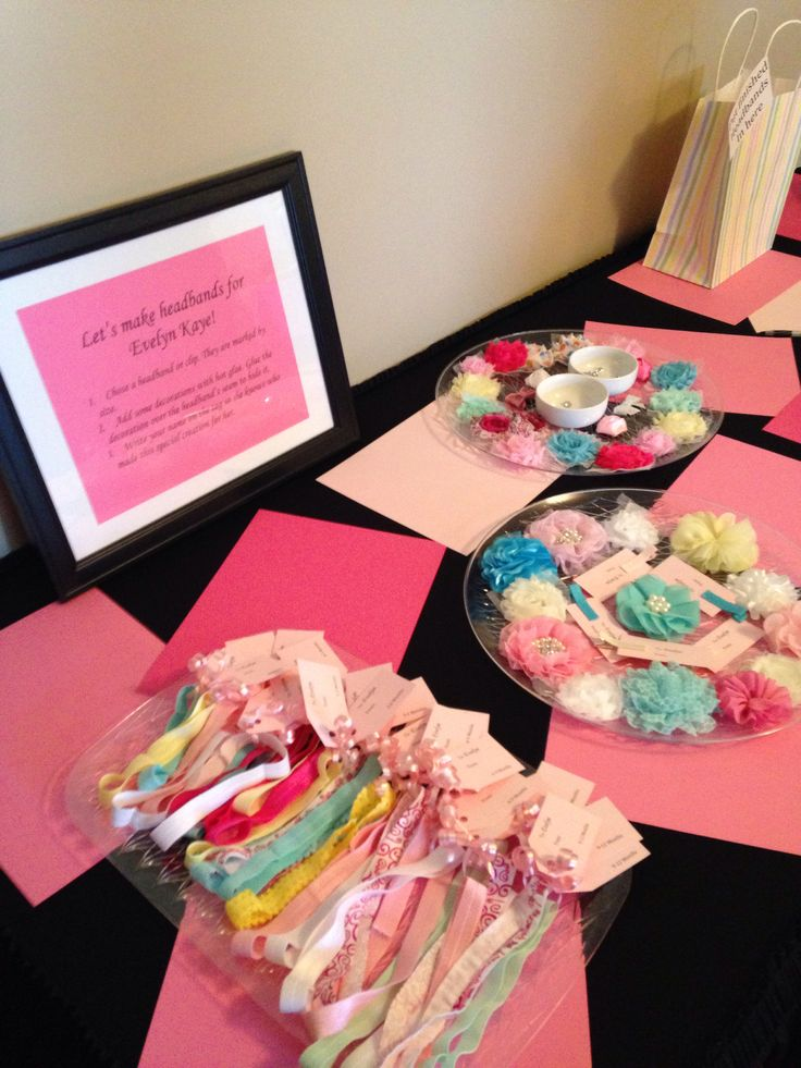 Headband making station. Use the sign too so that they have directions on what to do.