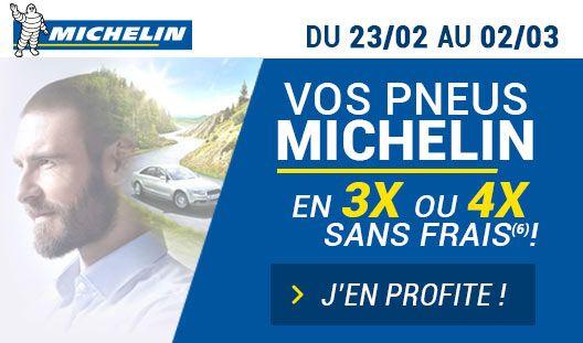 Jusqu'au 2 mars, profitez du paiement en 3x ou 4x SANS FRAIS avec votre CB sur l'ensemble de la gamme MICHELIN #pneus #michelin #promo