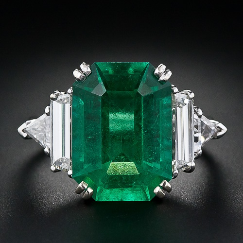 Oh Holy Emerald...  7.00 Carat Emerald and Diamond Ring - 30-1-4154 - Lang Antiques