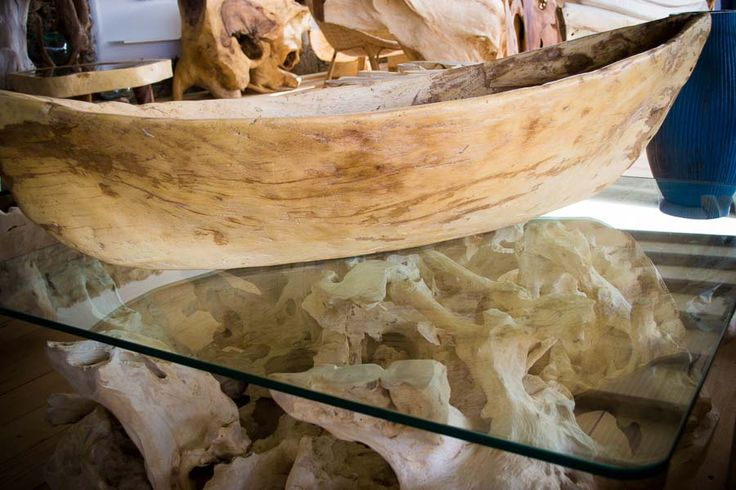 Wooden boat bowl