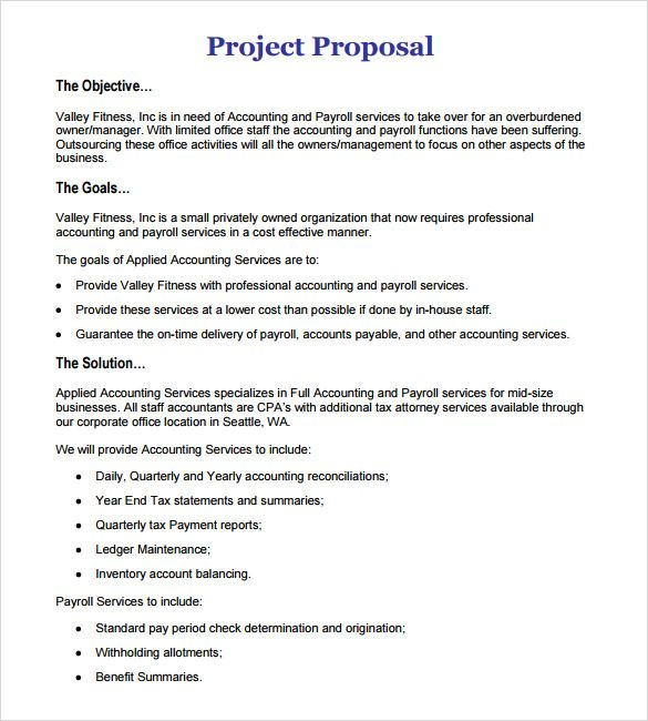 Project Proposal Outline | template