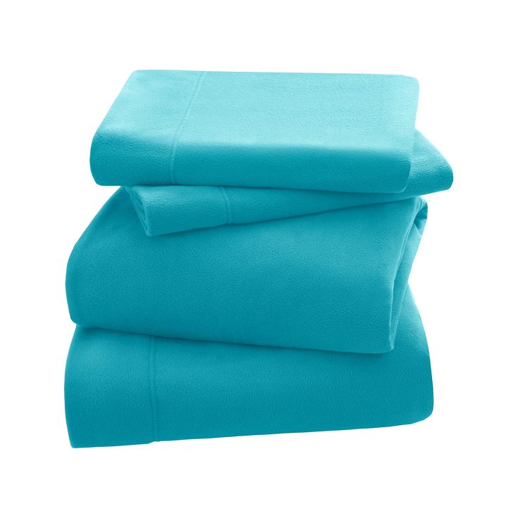 3M Scotchgard Micro Fleece Sheet Set (Queen) Aqua (Blue)