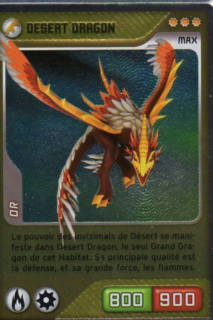 Carte Panini Invizimals Defis Caches Desert Dragon N 176 326