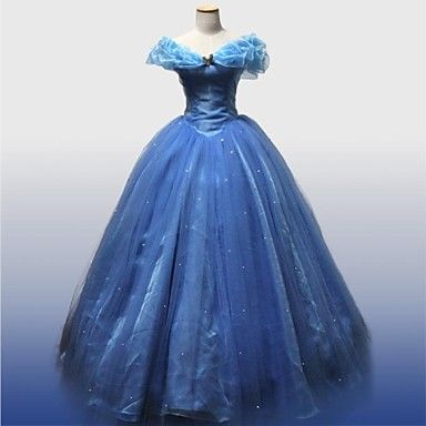 Cinderella Movie Version Deluxe Prom Dress Cosplay Costume – USD $ 129.99
