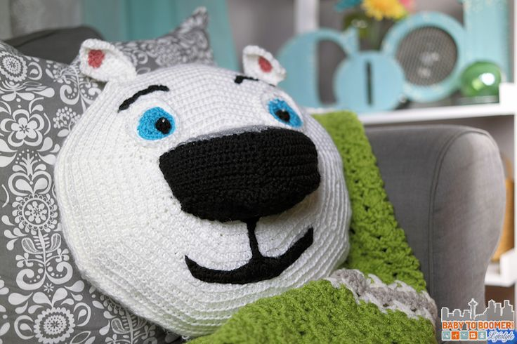 Norm of the North Crochet Pattern Pillow - Meet Norm of the North and Free Crochet Pattern #NormOfTheNorth #Sweepstakes ad