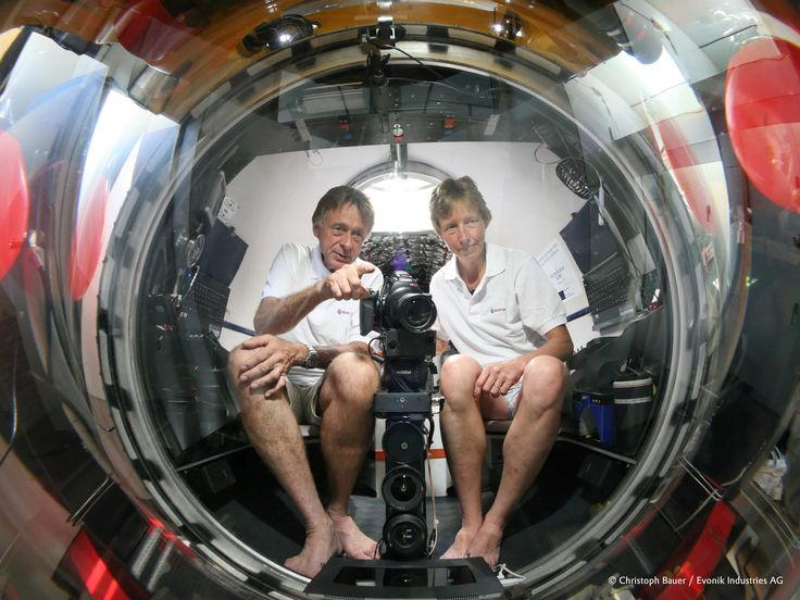 """""""When we dive down, we feel as though the dome is not even there."""" Joachim Jakobsen, Submersible developer #originalplexiglas #evonikplexiglas #acrylic #science #technology #uboat #underwater"""