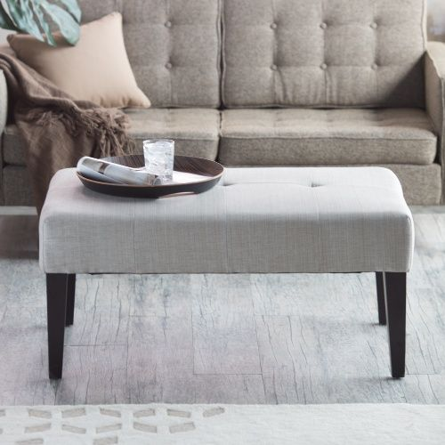 Belham Living Altea Upholstered Coffee Table Bench - Linen Sand - Indoor Benches at Hayneedle