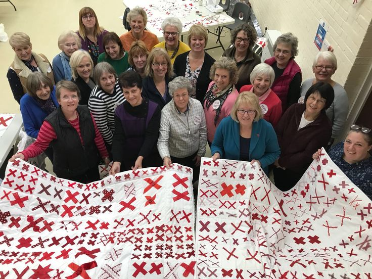 Quilts being made for The 70273 Project in the U.K. that will fill Rochester Cathedral in 2018. Photo by Lucy Horner)
