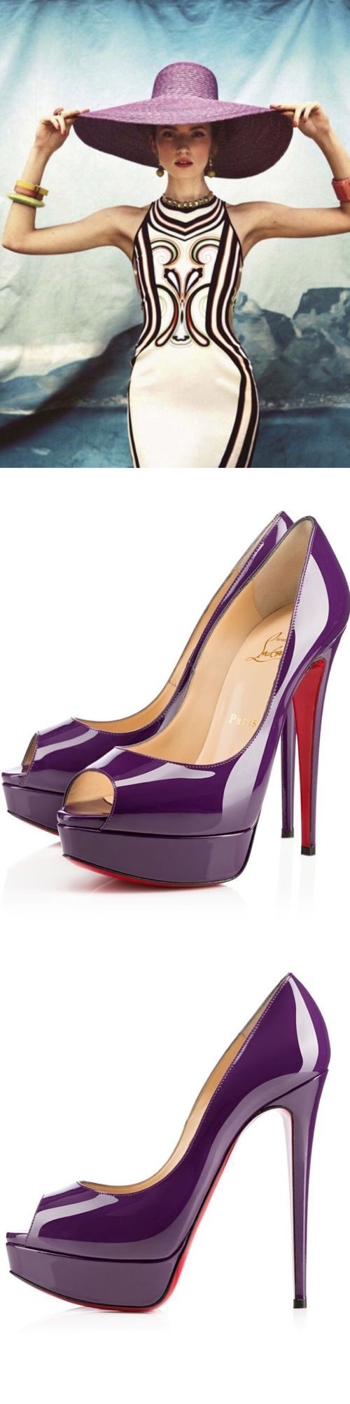 "~Christian Louboutin ""Lady Peep"" Luxurydotcom 