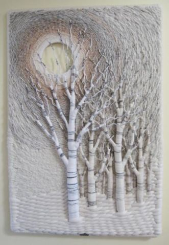 Tree Relief… by Gloria McRoberts (fabric, textile, fiber art)
