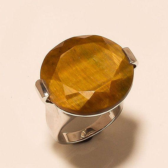 86ec10e0b Natural Brazilian Tiger eye Istanbul Ottoman Handmade Men's Signet Ring  Biker's Ring 925 Sterling Silver Jewelry Ring Men's Fathers day Gift