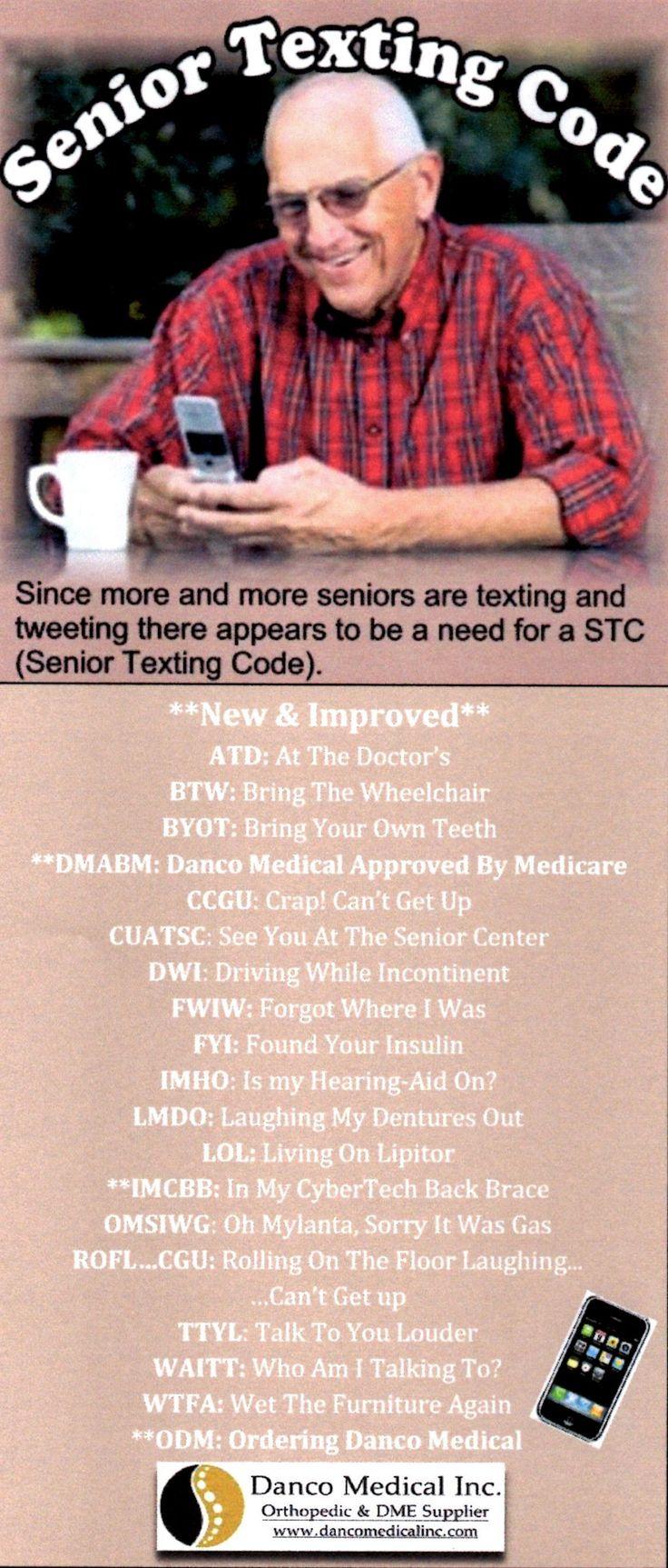 #SeniorTexting #DancoStyle www.dancomedicalinc.com