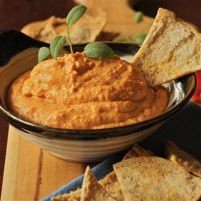 Roasted red pepper hummus | Apps, Snacks, Sides, & Dips | Pinterest
