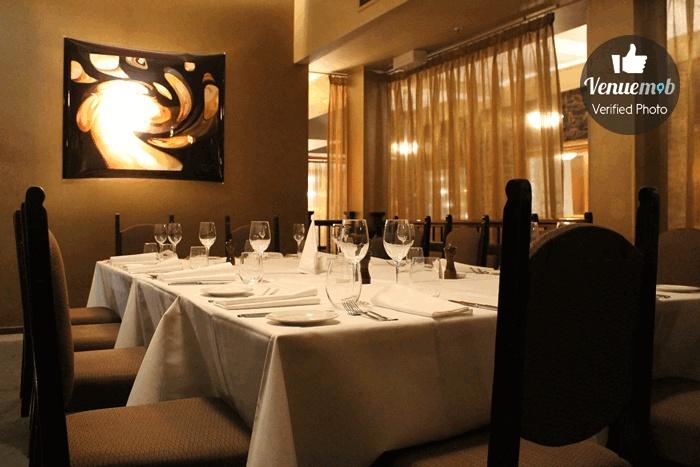 Private Dining Area at Bluestone Restaurant Bar
